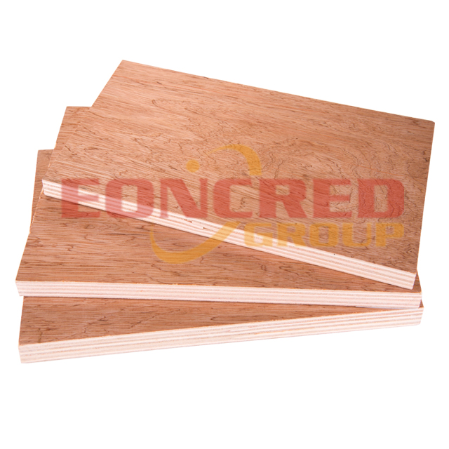 12mm 4x8 Bintangor faced Poplar Commercial Plywood for Furniture