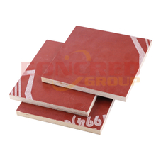 10mm 1220x2440mm Poplar Phenolic Red Film Faced Plywood for Construction